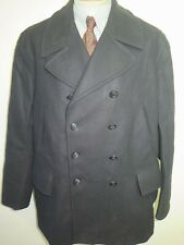 "Genuine Gloverall Naval Pea Coat Jacket / Coat Size XL 46"" R Euro 56 R"