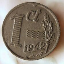 1942 NETHERLANDS CENT - Excellent Collectible - FREE SHIP - Netherlands Bin E