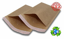 """500 #000 4x8 Brown Kraft Bubble Mailers Padded Envelopes Bags 4""""x8"""""""