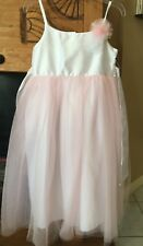 Beautiful Girls Party Dress Pink and White Cherokee NWT Size M Medium