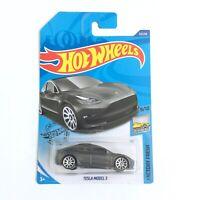 Hot Wheels TESLA MODEL 3 Grey Color Toy Car Mattel Brand NEW