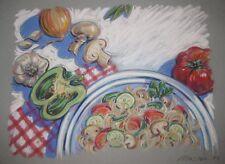 Vintage ORIGINAL Barbara Maslen 'PASTA' Still Life Pastel ILLUSTRATION Painting
