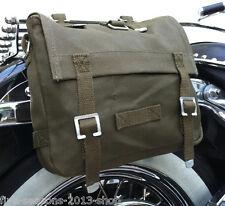 Satteltasche Toolbag Motorrad Werkzeugrolle Tasche Chopper Harley Dunkeloliv USA