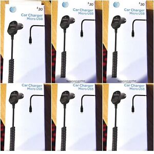 6 pcs - AT &T  3.4 Amps rapid car charger with USB port for Samsung & Nokia