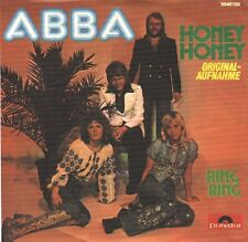 "ABBA  Ring, Ring & Honey, Honey  PICTURE SLEEVE 7"" 45 BRAND NEW + juke box strip"
