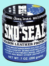7 Ounce Bees Wax Sno-Seal Leather Protectant - Enjoy Dry Feet All Year Long!