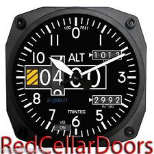 "TRINTEC New Aviation Design 2060 Series 6.5"" ALTIMETER Wall Clock Aviatrix Pilot"