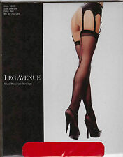 LEG AVENUE - Sexy Sheer Stockings with Retro Backseam - One Size - RED  BNIP