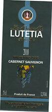Etiquette de vin - Vin de pays d'Oc - Princesse de LUTETIA - Cabernet Sauvignon