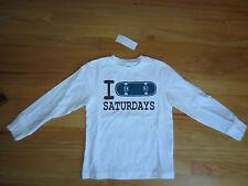 Boy Gymboree I SKATEBOARD SATURDAYS WHITE top shirt NWT 6
