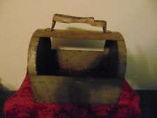 Vintage all metal shoe shine case with star foot rest RARE