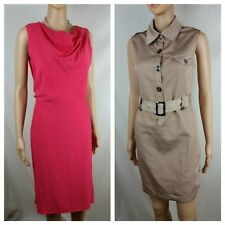 David Lawrence 8 10 Dress Pink Coral Cowl + FREE Gold Dress Sleeveless Career