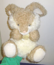 Snuggie Toy Bunny Puppet Light Brown 1999 DGE Corp 16 inches