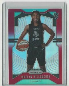 2020 WNBA PANINI * JOCELYN WILLOUGHBY RED PRIZM * ROOKIE * CARD 056/275 LIBERTY