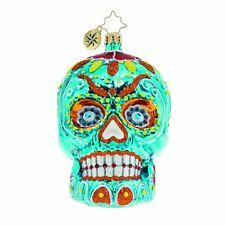 Christopher Radko La Calavera Day of the Dead Gem Glass Ornament 1020276