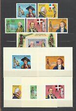 Ivory Coast 1976 Sc#1421-6  American Bicentennial  MNH Set-Souvenir/Mini Sheets