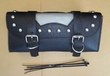 Studded Black Motorcycle Tool Roll / Bag For Cruisers / Custom Bikes (OU0638)