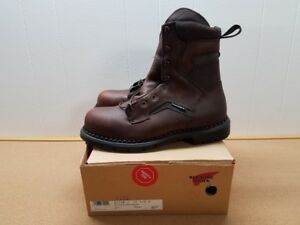 MENS RED WING 2238-1 BROWN LEATHER BOOTS SIZE 11 1/2 H MADE IN USA