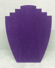 Set of 20 Jewellery Display Card Busts [B] Purple Suede