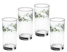 "4 New Corelle CALLAWAY 16-oz GLASSES 6"" Drink Tea Tumblers *Green Trailing Ivy"