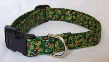 Green Holly Christmas Dog/Cat Collar Adjustable Pet/Cat CUSTOM MADE TO ORDER