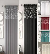 New Arran Voile Curtain Panel Voile Net Slot Top 6 Different Colours