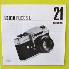 Catalogue - Document commercial LEICAFLEX SL 21 RAISONS  - E LEITZ -