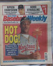 1995 USA Today Baseball Weekly Carlos Perez Expos 9/5/95