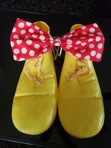 Vintage Rubies Clown Shoes Yellow 1978 #741 USA Adult Plastic Costume OSFA