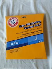 Eureka Type J Odor Eliminating Vacuum Cleaner Bag unused box of 3 Arm & Hammer