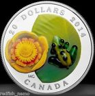 CANADA 2014 Fine Silver Coin - Venetian Glass Frog - Water Lily Murano
