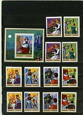 Ajman 1971 Fairy Tales/Brothers Grimm 2 Sets Of 6 Stamps Perf. & Imp. & S/S Mnh