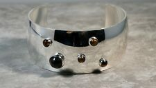 NIELS ERIK FROM Vintage Sterling Silver Tiger's Eye Chunky Denmark Cuff