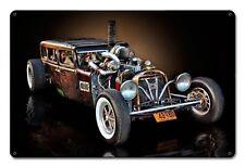 Montana Diesel Rat Rod 1928 Dodge 4 Door US Car Retro Sign Blechschild Schild