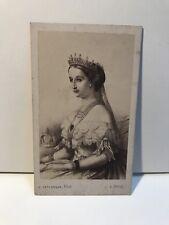 Impératrice Eugénie d'après dessin Photo Cdv Carte de visite Vintage Albumine