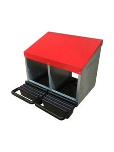 x 2  Double Hole rollaway Nesting box for chickens