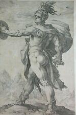 "Hendrick Goltzius 1558-1617 Niederlande orig. Kupferstich ""Römische Helden"""