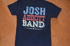 JOSH ABBOTT BAND JAB S t shirt 2-sided blue concert Texas country music