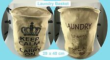 1 Waterproof Cotton Linen Washing Cloth Laundry Basket Sorter Bag Hamper Storage