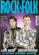 DAVID BOWIE ⚡ LOU REED - YOKO ONO - JANE BIRKIN - ROCK & FOLK #343 - Mars 1996
