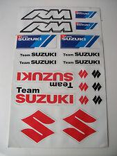 Suzuki Motocross Decals Sticker Rm80 Rm125 Rm250 Rm 125 250 Rg Ts Rmz Gsx Drz Dr