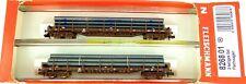 ÖBB 2 Partes Vagón Plataforma Set Tipo Res Epv Fleischmann 826801 N 1:160 Carga