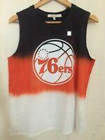 Junk Food Clothing Men's NBA Philadelphia 76ers Basketball T Shirt Tee L