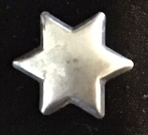 AWESOME ANTIQUE DIVISION 1 REALISTIC STEEL STAR BUTTON