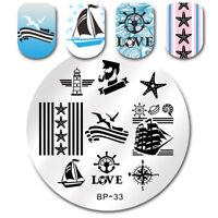 1Pc Born Pretty BP33 Nail Art Stamping Image Plate  Sailor Sea Designs
