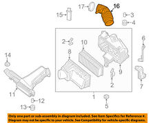 NISSAN OEM Air Cleaner Intake-Air Duct Tube Hose 165763JA0A
