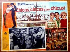 ELVIS PRESLEY LILI VALENTY 1962 Mexican Lobby Card GIRLS! GIRLS! GIRLS!
