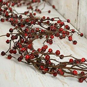 Factory Direct Craft 6 feet of Flexible Artificial Red and Burgundy Garland
