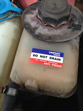 Unipart Do Not Drain Radiator Coolant Sticker for British Leyland Austin Rover