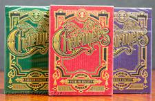 3 decks: Charmers Green + Red + Purple Playing Cards By Lotrek & Keller O'Neil